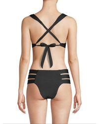 Tori Praver Swimwear Black Aimee Underwire Top