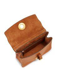 Valentino Brown Buckle Leather Shoulder Bag