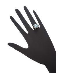 Effy Blue 14k White Gold Diamond, Brown Diamond & Aquamarine Ring