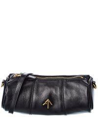 MANU Atelier Black Cylinder Leather Shoulder Bag