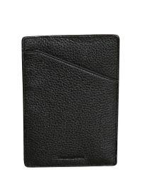 Dopp Black Buxton Soho Rfid Slim Leather Passport Sleeve for men