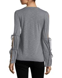Lucca Couture - Gray Cosette Blouse - Lyst