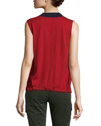 Prada Red V-neck Sleeveless Sweater