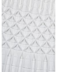 Alaïa White Knit Jacquard Dress