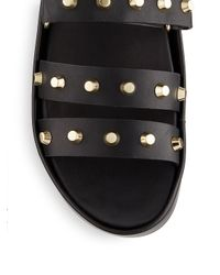 Gentle Souls Black Unity Ii Studded Platform Sandals