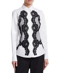 Dolce & Gabbana - White Lace Cotton Shirt - Lyst