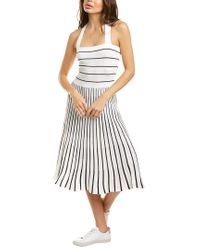 Alexis White Bess A-line Dress
