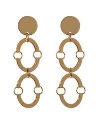 Lele Sadoughi Metallic Golden Arch 14k Plated Earrings