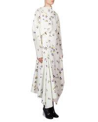 Acne White Floral Cotton Wrap Dress