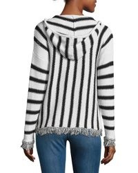 Saks Fifth Avenue - Multicolor Stripe Knit Hoodie - Lyst