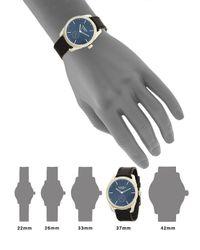 Nixon Black Stainless Steel Round Leather-strap Watch