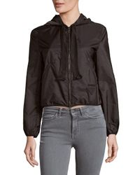 Prada Black Zippered Drawstring Hood Jacket