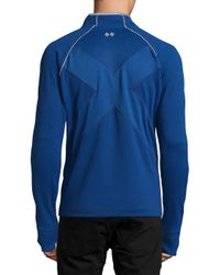 Robert Graham Blue Taylore Raglan Sleeve Top for men