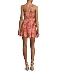 Free People - Pink Washed Ashore Mini Dress - Lyst