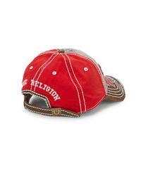 True Religion - Red Big Buddah Baseball Cap for Men - Lyst