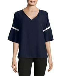 CALVIN KLEIN 205W39NYC - Multicolor Contrast Trim Short-sleeve Top - Lyst