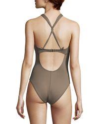 La Blanca Multicolor Convertible One-piece Swimsuit