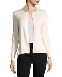 Carolina Herrera White Cashmere Solid Cardigan