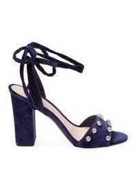 Loeffler Randall Blue Elayna Leather Sandal