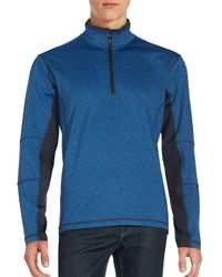 Hawke & Co. Blue The Borum Quarter-zip T-shirt for men