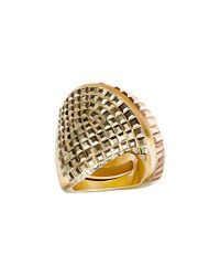 Swarovski - Metallic Crystal Plated Stainless Steel Ring - Lyst