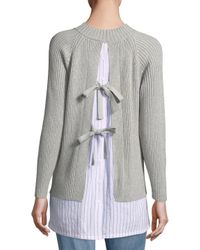 French Connection Gray Ila Knit Tie Back Jumper