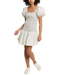 Tanya Taylor White Eden Drop Waist Dress