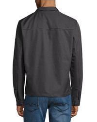 Michael Kors Gray Bonded Utility Jacket for men