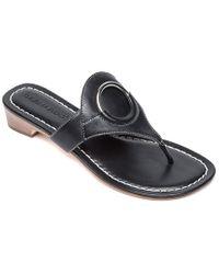 Bernardo Black Gail Leather Sandal