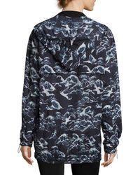 We Are Handsome Blue Wave Print Bomber Jacket
