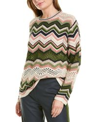 M Missoni White Mixed Knit Wool & Mohair-blend Sweater