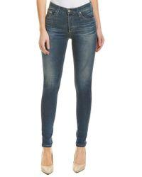 AG Jeans Blue The Farrah 12 Years Abide High-rise Skinny Ankle Cut