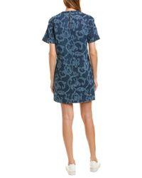 Rag & Bone Blue Esmond Laser-cut Cotton Dress Indigo