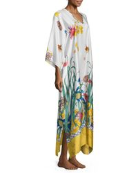 Natori - Multicolor Print Caftan Dress - Lyst
