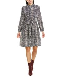 Rebecca Taylor Black Tie-front Silk Shirtdress