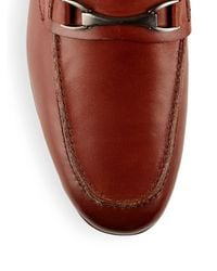 Saks Fifth Avenue Multicolor Lucian Leather Penny Loafers for men