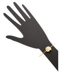 Valentino - Metallic Shell Snail Shell Bangle Bracelet - Lyst