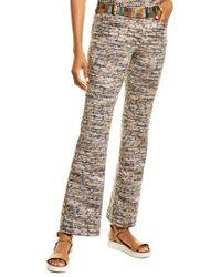 Missoni Gray Waffle-knit Wool-blend Pant