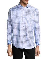 Robert Graham Blue Microcar Printed Cotton Casual Button-down Shirt for men