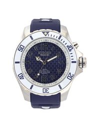 Kyboe - Power Blue Silicone And Stainless Steel Watch, 480415 for Men - Lyst