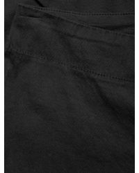 James Perse - Black Pull On Cotton Skinny Trouser - Lyst
