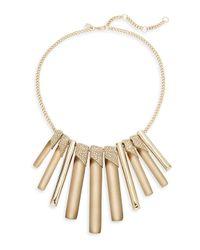 Alexis Bittar - Metallic Lucite Luna Crystal Bib Necklace - Lyst