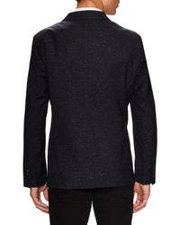 John Varvatos Blue Two Button Peak Lapel Jacket for men