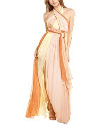Cinq À Sept Pink Eileen Silk Gown