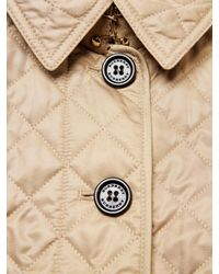 Burberry Natural Diamond Quilted Flared Jacket