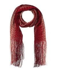 Missoni Red Wool-blend Scarf
