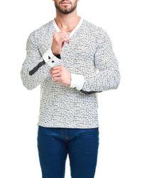 Maceoo - Multicolor V-neck Tetris Sweater for Men - Lyst