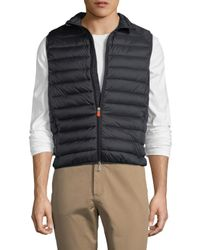 Save The Duck Multicolor Puffer Solid Vest for men