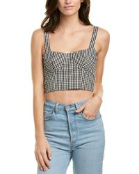 Capulet Black Lucile Bustier Crop Top