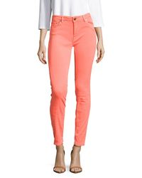 Maje Multicolor Fluo Solid Slim-fit Jeans